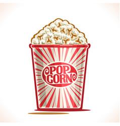 Poster for pop corn vector
