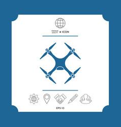 quadcopter drone icon vector image