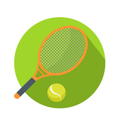 racket and ball icon logo for tennis web button vector image
