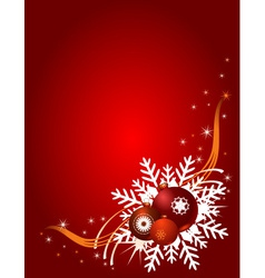 Red christmas background with christmas balls vector
