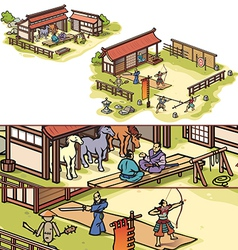 Samurai Training Camp vector