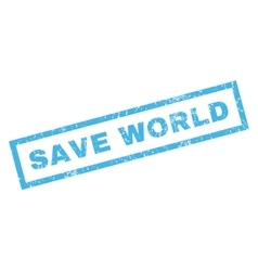 Save World Rubber Stamp vector