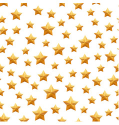 seamless pattern with realistic golden 3d stars vector image