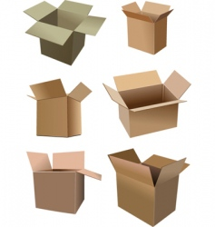 set of boxes vector image