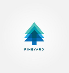 simple clean pine logo design vector image