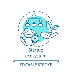 Startup ecosystem concept icon vector