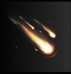 stock realistic meteorite vector image