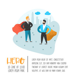 superhero business people character poster vector image