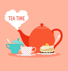 tea time concept breakfast or lunch vector image