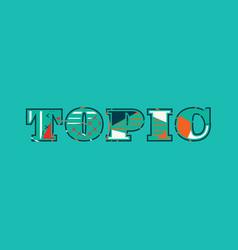 Topic concept word art vector