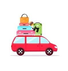 Travel Car Tourism and Vacation Together vector image