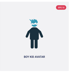 two color boy kid avatar icon from people concept vector image