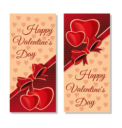 vintage greeting cards for valentines day vector image