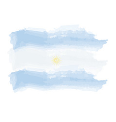 watercolor flag of argentina vector image