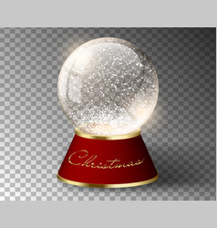 white snow globe empty template isolated vector image