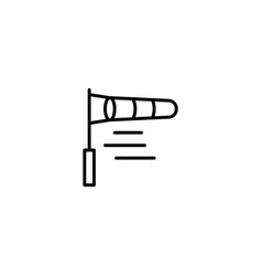 wind indicator flag icon vector image