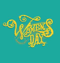 women day logo vector image