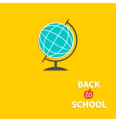 World globe Back to school Flat design style vector image