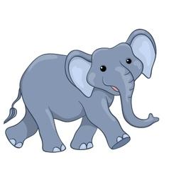Happy elephant walking vector image vector image