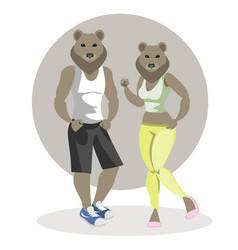 bears man and woman vector image
