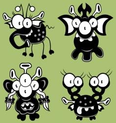 cartoon monsters vector image vector image