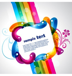 colorful design vector image