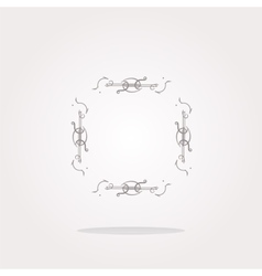 glossy web buttons with abstract lines Web vector image