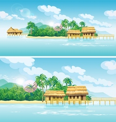 paradise islands vector image vector image