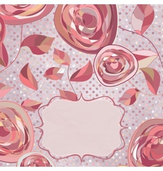 Vintage romantic roses card vector image