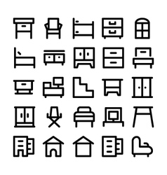 Buildings and Furniture Icons 9 vector image
