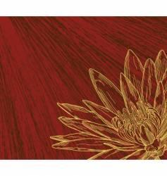 flower sketch vector image vector image