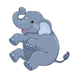 Happy elephant sitting vector image vector image
