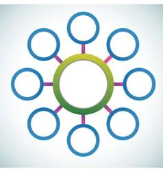 Presentation color circles template vector image vector image