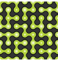 Rounded maze seamless pattern vector image vector image
