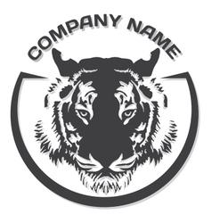 Tiger head silhouette vector image vector image