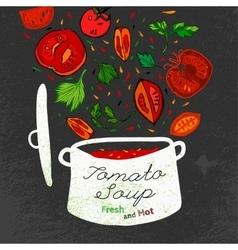 Tomato Soup Image vector image