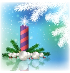 Abstract blue background with Christmas vector image vector image