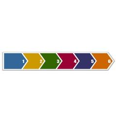 Arrow banner in six steps vector image