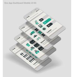 flat design admin dashboard eco new energy vector image vector image