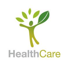 healthy people logo medical logo design concept vector image vector image
