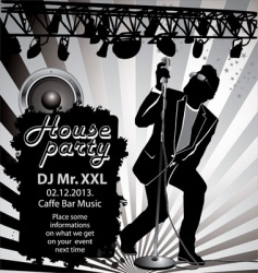 house party background vector image vector image