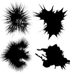 inky splats vector image vector image