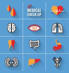 Medical check up man vector