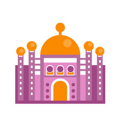 purple majestic palace building vector image