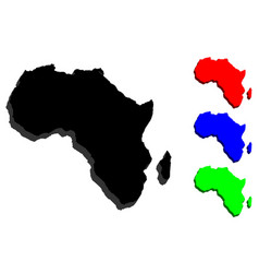 3d map of africa vector image