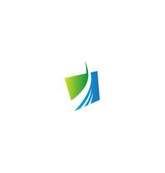 abstract arrow progress business logo vector image