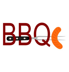 abstract bbq label vector image