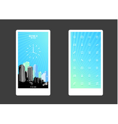 abstract colored background with skyscrapers and vector image