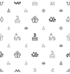 Age icons pattern seamless white background vector