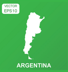 argentina map icon business concept argentina vector image